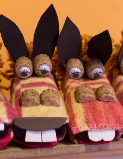 marionetas burros