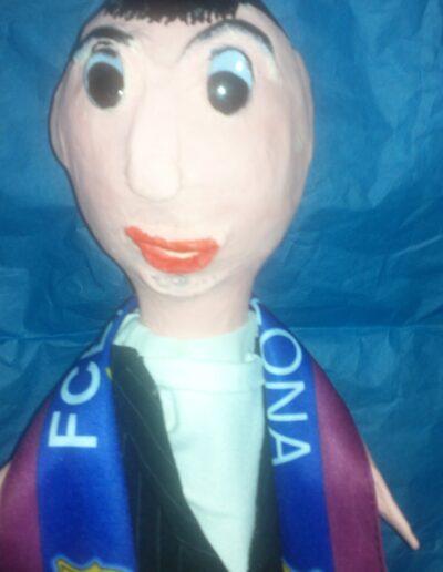 marioneta personalizada de fan del Barca