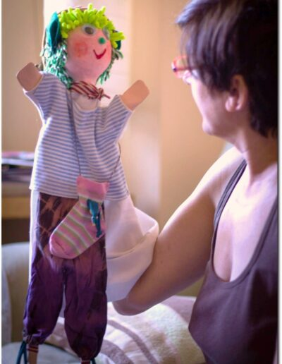 Rocío Sellés con marioneta